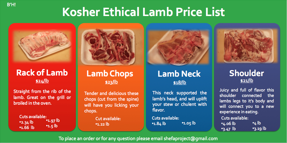 Kosher Ethical Lamb for sale now!